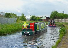 Narrowboats on the Wyrley & Essington Canal