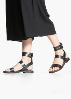 Mango Strap leather sandals | $130