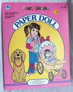 Vintage Paper Dolls book PUNKY BREWSTER 1986 Western Uncut, Mint, Golden NBC in Vintage | eBay