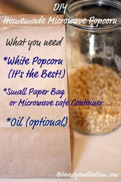 make your own microwave popcorn in a little brown bag via @beautyandbedlam - i'm so going to try this!