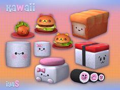 Kawaii things for house by soloriya at TSR via Sims 4 Updates