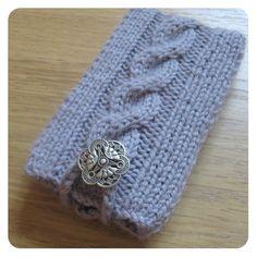 Hand Knitted Grey Phone Cozy by Orange Bird Studio