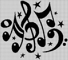 Music Notes (Chart/Graph AND Row-by-Row Written Crochet Instructions) – 02 — YarnLoveAffair.com