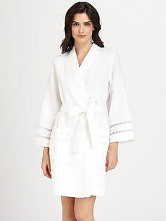 Oscar de la Renta Sleepwear Spa Oasis Short Robe