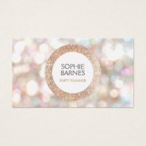 because what party planner doesn't like glitter and bokeh, right? Cute Bokeh and Rose Gold Sequin Event Planner Business Card AFFILIATE LINK Fashion Business Cards, Beauty Business Cards, Salon Business Cards, Hairstylist Business Cards, Business Card Design, Business Ideas, Bokeh, Bussiness Card, Girly