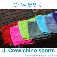 Hand Me Down Style: J. Crew chino shorts: a review of the week