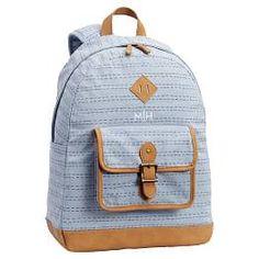 0d2e72ad4 Northfield Dusty Blue Dashing Stripe Backpack