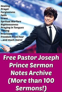 Be blessed by the word of God through the anointed sermons of Pastor Joseph Prince! Enjoy more than 100 sermons in this archive. These messages are full of revelations of Jesus Christ and His finished work at the cross - this is the true Gospel of Grace b Joseph Prince Quotes, Pastor Joseph Prince, Joseph Prince Ministries, Faith Based Movies, Prayers For Healing, Healing Scriptures, Praying For Your Family, Christian Devotions, Christian Faith