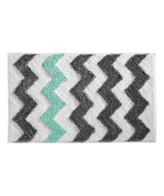 Teal And White Chevron Bathroom Chevron Bathroom Chevron And - Turquoise and brown bathroom rugs for bathroom decorating ideas