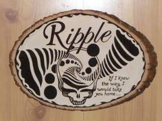 NEW Grateful Dead Furthur Ripple Plaques Wood Burning Birthday Gifts Holiday  $69.00 via riley312003