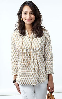 Just discovered this Woman's Tuxedo Kurta from Rikshaw Design.  They make a version for girls, too.  Perfect for summer.