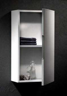 Loft & Bath® Blanc > Mobilier façade cuir Blanc > Armoire de toilette