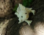 Needle felted WHITE ELEPHANT sculpture. Great gift, toy, decoration, and friend.. $35.00, via Etsy.