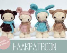 Amigurumi Crochet patrón de cuatro muñecas lindas por CreepyandCute