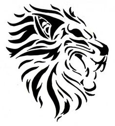 Tatuagens de Leões no Braço, nas Costas, Tribal, Femininas Tribal Lion Tattoo, Lion Forearm Tattoos, Lion Tattoo Design, Name Tattoos, Body Art Tattoos, Future Tattoos, Tattoos For Guys, Tribal Animals, Lion Drawing