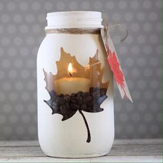 """Papertrey Ink on Twitter: """"Mason jar candles for the fall by @lauriewillison #papertreyink http://t.co/NXbr5Bl957"""""""