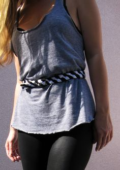 DIY belt from an old t-shirt or two!!!!