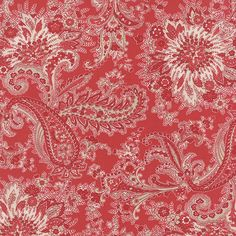 Miss Scarlet: Large Paisley in Warm Red
