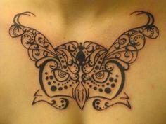 owl tree of life tattoo | henna tree of life | Owl Tribal/Henna Tattoo by…