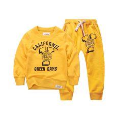 2015 New Winter Autumn Children Hoodies Sweatshirt Set Boys Girls Coat Kids Long Sleeve Casual Outwear Baby Clothing Set 3 color