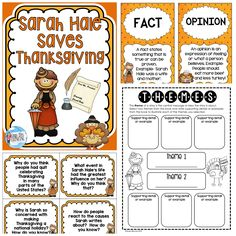 $ These higher level thinking questions and activities are sure to engage your students as they learn about Sarah Hale, the woman who made Thanksgiving a national holiday!