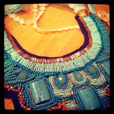 Finally finished a DIY project... The statement necklace #DIY #statement