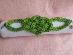 Celtic Knot Bracelet By Jennifer E. Ryan - Free Crochet Pattern - (ravelry) ¡* ༺✿ƬⱤღ  https://www.pinterest.com/teretegui/✿༻