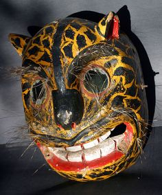 1950s Mexican tigre dance mask