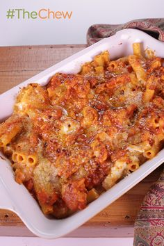 Serve up this Italian comfort Meaty Ziti by Justin Washington for your next dinner ASAP! #TheChew