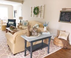 Sofa, Couch, Easy Projects, Farmhouse Style, Paint Colors, New Homes, Happy, Table, Furniture