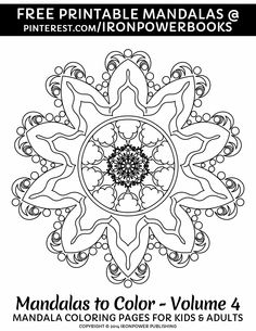 Easy Mandala Coloring Page for Kids and Adults | Please use freely for personal non-commercial use | Visit http://www.amazon.com/Mandalas-Color-Mandala-Coloring-Adults/dp/1496033418 for a paperback copy