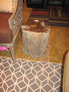 side table...........petrified wood from the Furniture Connector