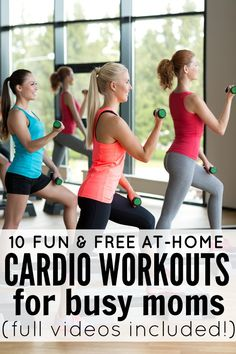 10 Fun & Free At-Home Cardio Workouts for busy moms