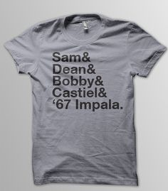 SUPERNATURAL Dean and Sam WINCHESTER Castiel by YellowDogTees