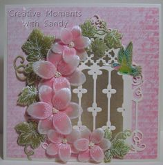 Heartfelt Creations Pink Vellum Window card by shulsart - Cards and Paper Crafts at Splitcoaststampers