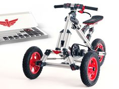 Bigger than Meccano and Lego. Much bigger. With just one kit and one tool you can build unlimited real rides together with your child.