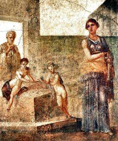 Fresque de Pompéi - Maison des Dioscures