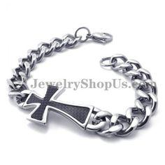 17fec60aeb29 Fashion Titanium Cross Bracelet. jewelry shop