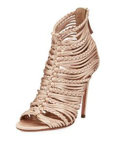 X400G Aquazzura Goddess Strappy Satin Sandal