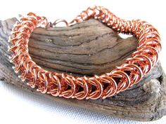 Men's Chunky Copper Box Weave Chainmaille Chain Maille Bracelet