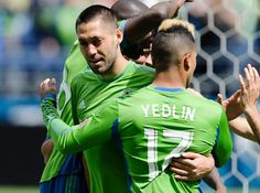 Clint Dempsey and DeAndre Yedlin. USMNT and Seattle Sounders STUDS!!!