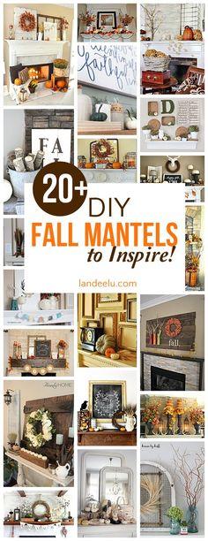 Over 20 beautiful DIY fall mantel decorating ideas - Gorgeous Autumn Do it Yourself Home Decor Inspiration (Diy Fall Top)