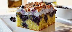 Prajitura cu afine si bezea - - a Blueberry Meringue Cake - Romanian Desserts, Meringue Cake, Something Sweet, Cake Cookies, Mousse, Blueberry, Sweet Treats, Cheesecake, Muffin