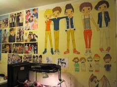 """Fan wall! """"This is my room. ;)"""""""