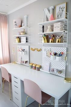 Bedroom Storage Ideas For Clothes, Bedroom Storage For Small Rooms, Room Ideas Bedroom, Kids Bedroom, Teen Bedroom Desk, Desk For Girls Room, Girl Desk, Big Girl Rooms, Home Office Design