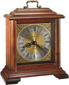 The Howard Miller Medford 612 481 Mantel Clock Offers A Br Finished Handle