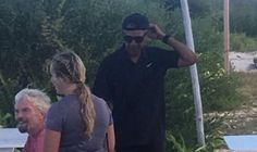 President Obama Is Posted Up with His Hat Backwards on Richard Branson's Private Island  - Esquire.com