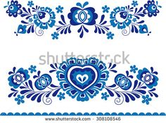 Folk ornaments - stock vector