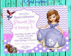 Sofía la primera invitación invitación de la por CutePixels en Etsy