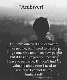 Are you an introvert, extrovert or ambivert? Meaningful Quotes, Inspirational Quotes, Motivational, Favorite Quotes, Best Quotes, Ambivert, Serious Quotes, Extroverted Introvert, Introvert Quotes